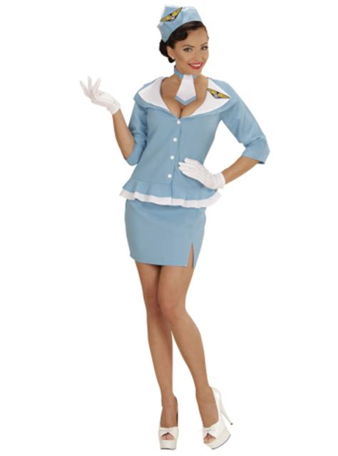 Air Hostess Pjs From by Womens Retro Air Hostess Costume