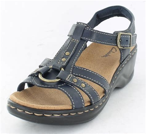 clarks comfort sandals ladies clarks comfort wedge sandals odette sumac ebay