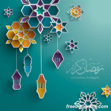 design background ramadan ramadan background with colored decor vector vector