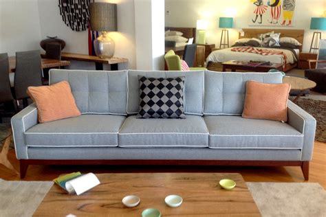 50s style couch the caz 50s style fabric sofa with jarrah timber base