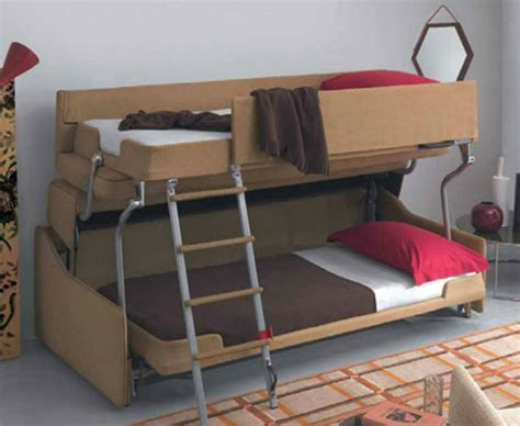 bunk bed with sofa under crazy transforming sofa goes from couch to adult size bunk