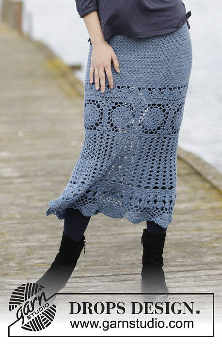 autumn swing skirt  drops design  crochet pattern