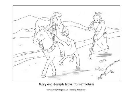 mary and joseph travel to bethlehem coloring pages journey to bethlehem clipart 42
