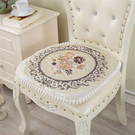dining table chair cushion pad european embroidery cotton