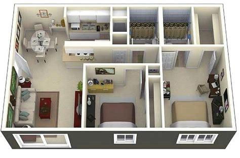 layout rumah 2 kamar 71 gambar denah rumah minimalis sederhana 3d terbaru