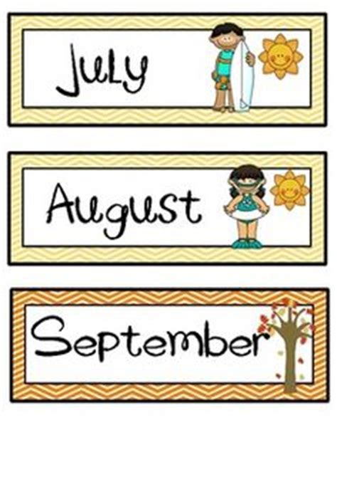 Months Of The Year Template Cards by Months Of The Year Australian Seasons Daily Calendar