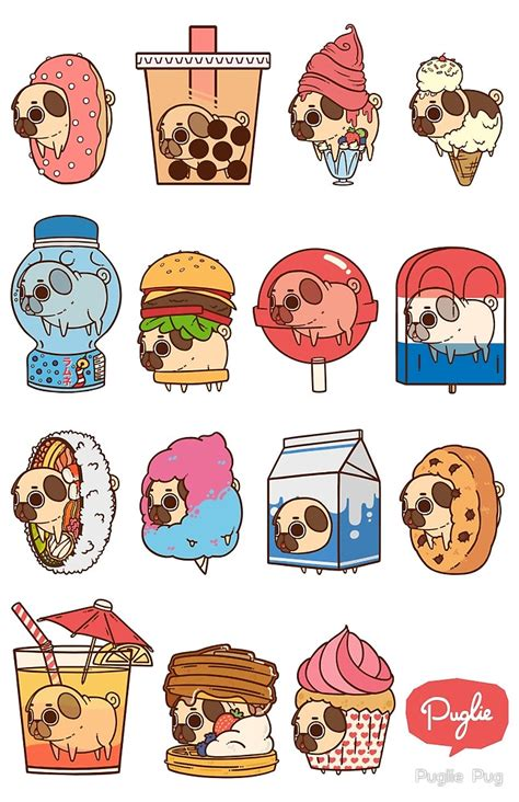 Home Decor Richmond by Quot Puglie Food 3 Quot By Puglie Pug Redbubble
