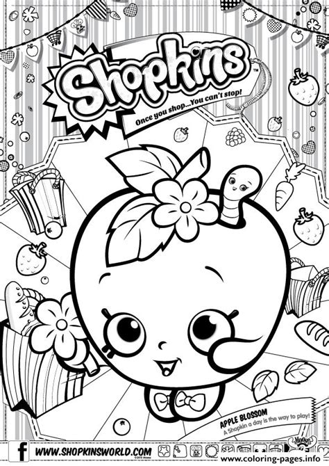 shopkins coloring pages apple blossom shopkins apple blossom coloring pages printable