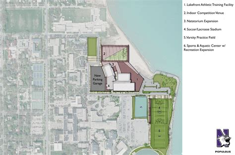 Populous designed Master Plan for Northwestern University Unveiled
