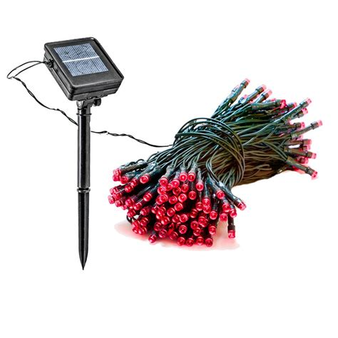 Greenlighting 100 Light 39 Ft Solar Powered Integrated 100 Ft String Lights