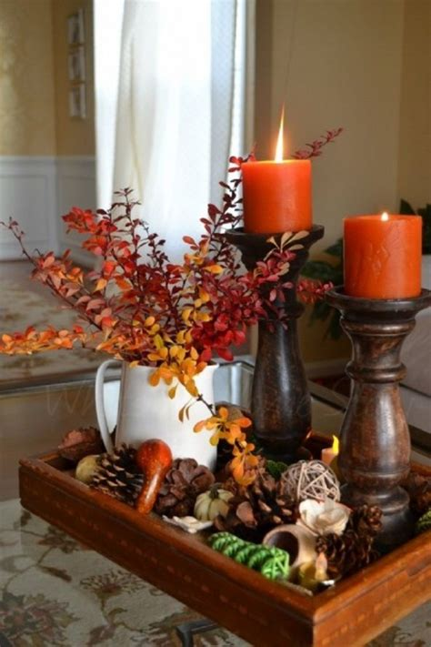 Candle Decor 27 Cozy And Candle D 233 Cor Ideas For Fall Digsdigs