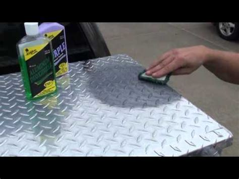 how to make a aluminum boat shine how to polish diamond plate the easy way by hand 1 youtube
