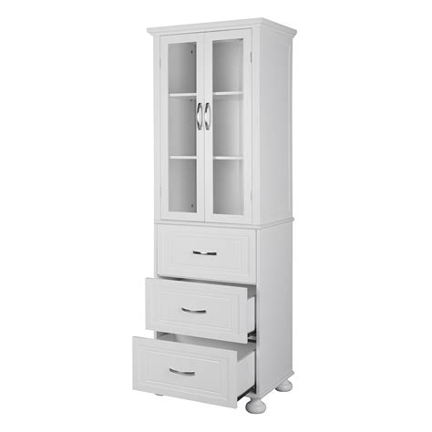 linen cabinet with luxury white tower linen cabinet with 3 drawers ideas