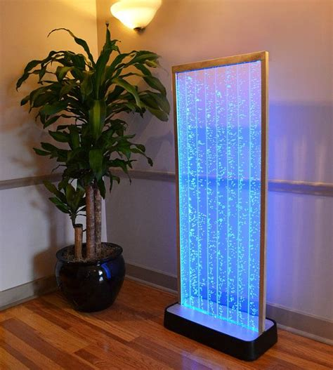 indoor fountain with light 4 foot bubble wall aquarium led lighting indoor panel