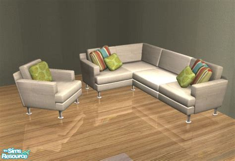 sims 3 couch mirake s sectional sofa recolors white multi