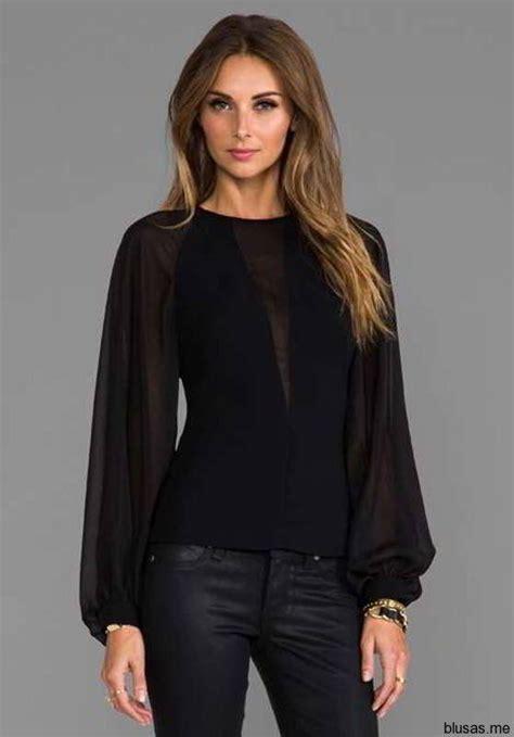 imagenes blusas negras de moda blusas negras de manga larga para fiesta 2014 https