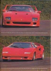 Lamborghini F40 Porsche 959 Vs Cizeta V16t Vs F40 Vs Lamborghini