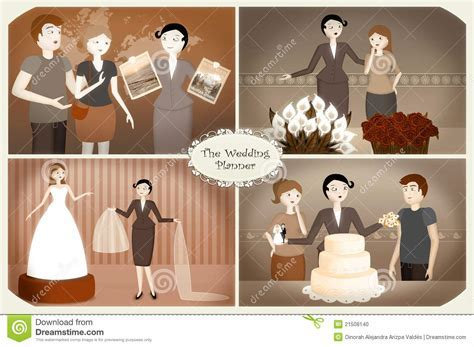 Wedding Planner stock illustration. Image of service