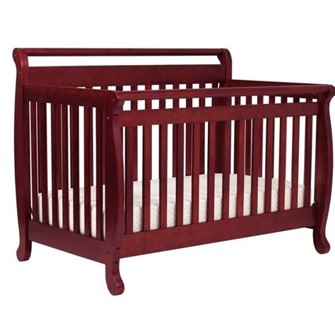 Wood Convertible Cribs Davinci Emily 4 In 1 Convertible Wood Baby Crib With Toddler Rail In Cherry 168630