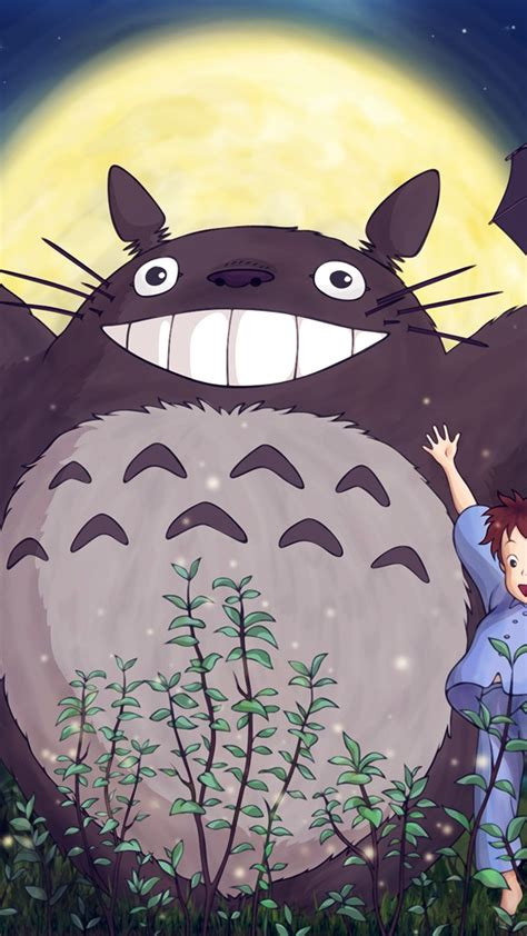 papersco iphone wallpaper au totoro forest anime