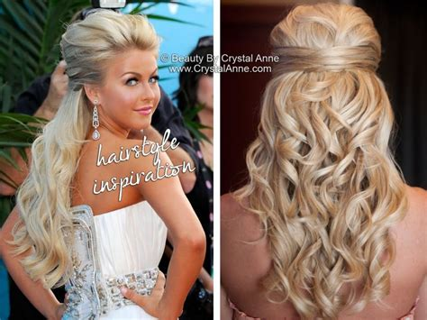 bridal hairstyles hair extensions julianne hough inspired half up bridal hairstyle half