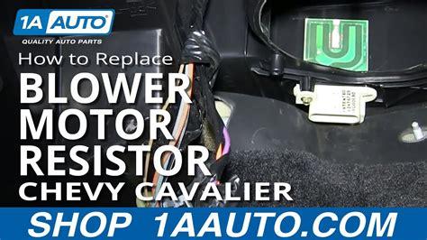 install replace ac heater fan speed resistor