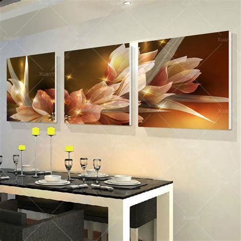 2018 3 panel modern printed wall painting flower picture cuadros canvas painting wall home
