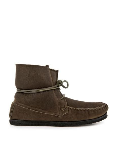 moccasin ankle boots marant suede moccasin ankle boots in green