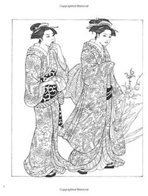 japanese kimono coloring page japanese coloring books for adults coloring creative