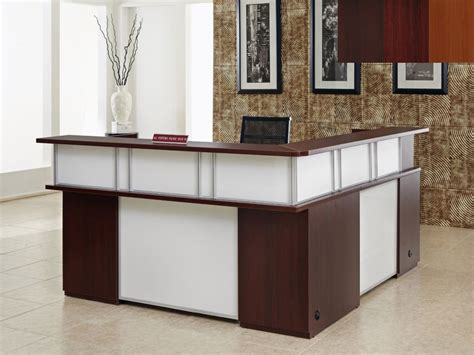 l shaped reception desk kitchen and home trend