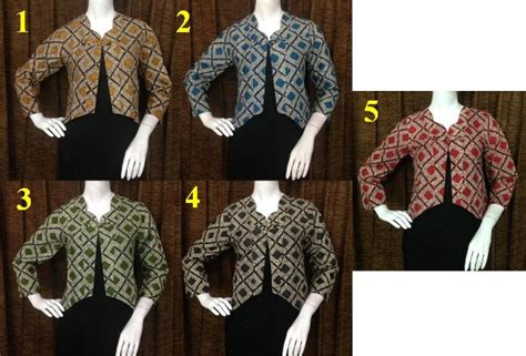 Baju Kaos Bolero Salur jual bktall bolero batik katun baju seragam cardigan blazer kemeja wanit di lapak liesha batik
