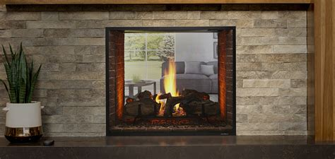 heat glo escape see through gas fireplace fireside