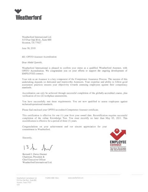 Recommendation Letter For Ceo Letter From Ceo