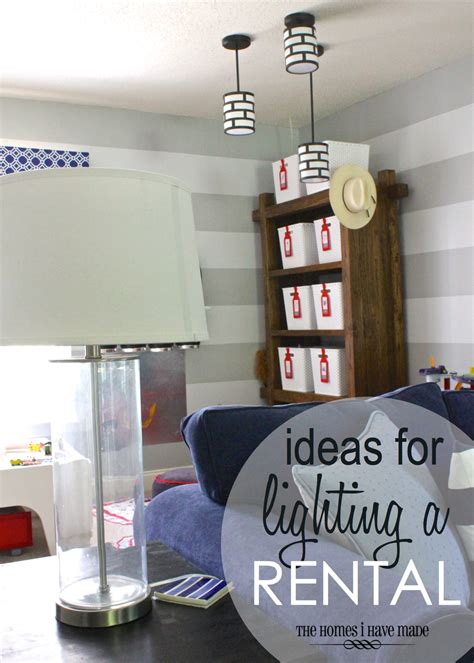 how to add light to a room without ceiling light ideas for lighting a rental the homes i made