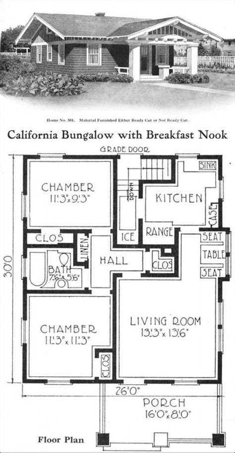 california bungalow house plans california style bungalow vintage small house plans