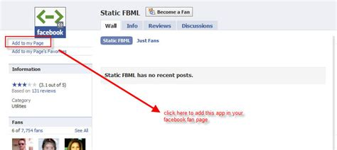 customize fan page tips customize fan page by static fbml app