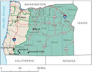 road maps of oregon