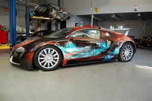 Customize Your Bugatti 1 7 Million Bugatti Veyron Gets Custom Wrap Via Epson