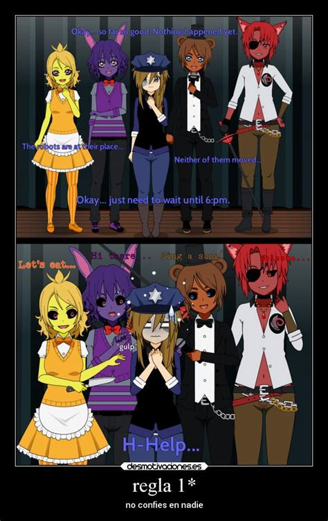 imagenes graciosas five nights at freddy s regla 1 desmotivaciones