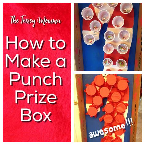How To Make A Paper Punch - the jersey momma how to make a punch prize box for class