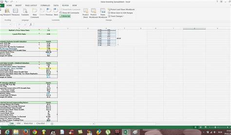 stock fundamental analysis excel template fresh
