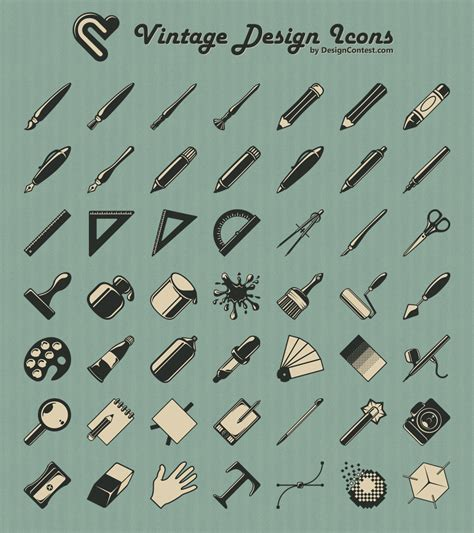 free design tools pictogram on icons pictogram and icon design
