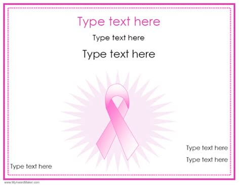 breast cancer awareness gift certificate templates you