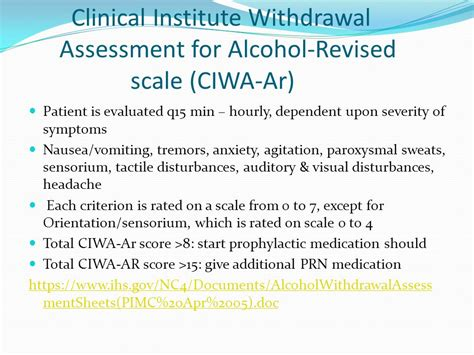 Detox Assessment by Management Of Withdrawal Ppt