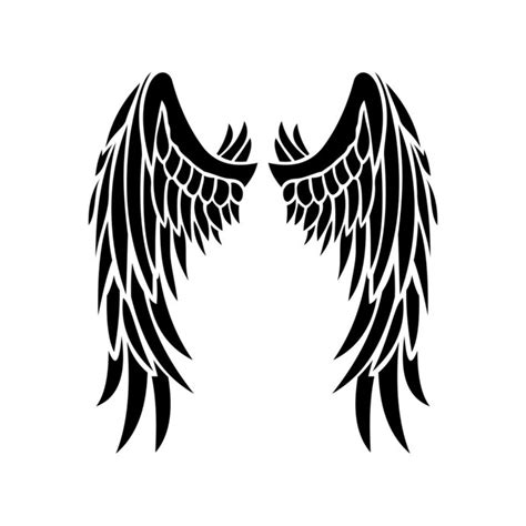 designing silhouettes of angels demo angel wings graphics design svg eps dxf png by