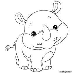 coloriage bebe rhinoceros jecolorie