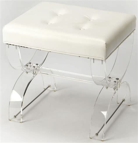 Clear Acrylic Vanity Stool by Morena Acrylic Vanity Stool From Butler Coleman Furniture