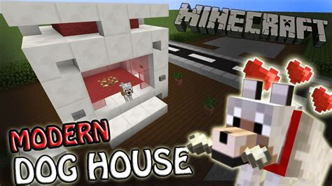 how to build a dog house in minecraft minecraft how to make a simply fancy modern dog house