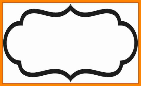 Fancy Name Card Template by Blank Label Border World Of Label