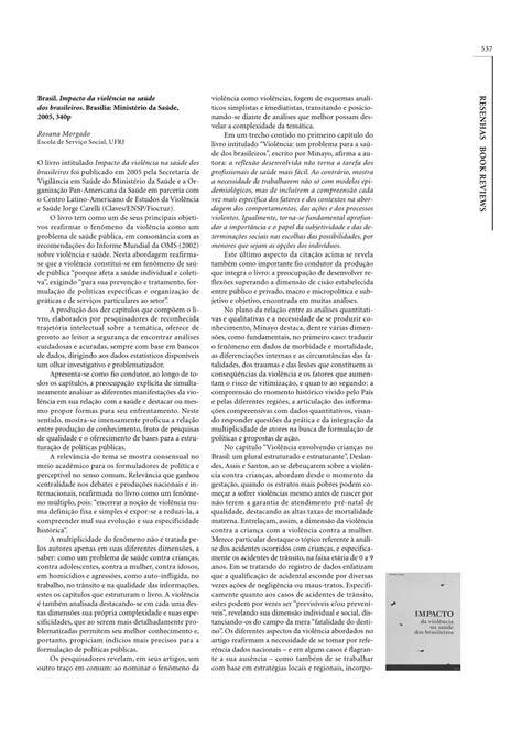 (PDF) Impacto da violência na saúde dos brasileiros